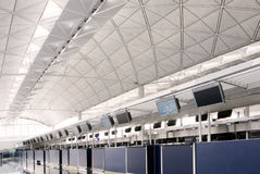 Hall of Hong Kong International  Airport Stock Photos