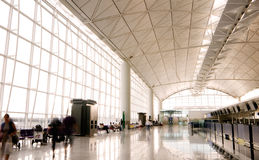 Hall of Hong Kong International  Airport Stock Images
