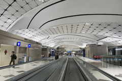 Hall of Hong Kong International Airport. Royalty Free Stock Photography