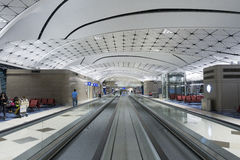 Hall of Hong Kong International Airport. Stock Photos