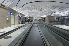 Hall of Hong Kong International Airport. Royalty Free Stock Image