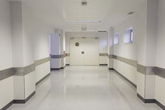 Hall hospital. Empty hospital hall with white walls, medicine Royalty Free Stock Images