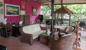 Hall Hotel Saint-Tropez em uma ilha tropical em Tailândia Foto de Stock Royalty Free