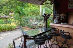 Hall Hotel Saint-Tropez em uma ilha tropical em Tailândia Imagem de Stock Royalty Free