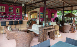 Hall Hotel Saint-Tropez em uma ilha tropical em Tailândia Fotos de Stock Royalty Free