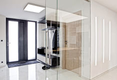 Hall in house. Hall in modern interior house Stock Photography