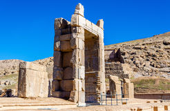 Hall of a Hundred Columns in Persepolis, Iran. Hall of a Hundred Columns in Persepolis - Iran Royalty Free Stock Photography