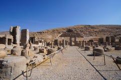 Hall of a Hundred Columns  at Persepolis in Shiraz, Iran. Stock Photography