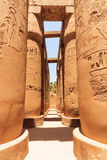 Hall hypostyle de Karnak Photo stock