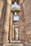 Hall hypostyle grand dans Karnak Images stock