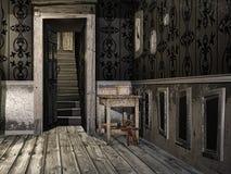 Hall i ett gammalt hus royaltyfri illustrationer