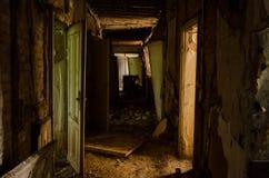 Hall i förstört hotell Arkivfoton
