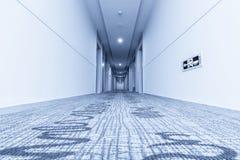 Hall i hotell och matta Arkivfoto