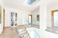 Hall i modernt hus Fotografering för Bildbyråer