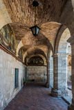 Hall inom den Santa Catalina kloster Arequipa Peru Arkivbilder