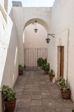 Hall inside Santa Catalina monastery Arequipa Peru Stock Images
