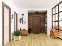 Hall interior 3d render Royalty Free Stock Photos