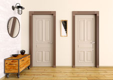 Hall interior 3d render Stock Photography