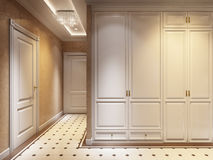 Hall Interior Design moderne classique intelligent et confortable Images libres de droits