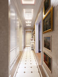 Hall Interior Design moderne classique intelligent et confortable Image stock
