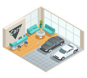 Hall Interior Isometric Design Image libre de droits