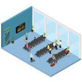 Hall Interior Isometric View de attente Vecteur Images stock