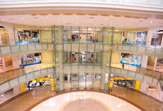 Hall interior of shopping mall Royalty Free Stock Photos