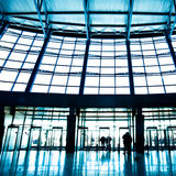 Hall interior in trade center Royalty Free Stock Photo