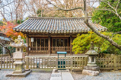Hall of Japanese Buddhist Temple at the Kotoku-in Temple Royalty Free Stock Images