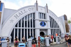 Hall of Justice Ride at Six Flags Stock Photography