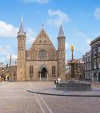 Hall of the Knights Ridderzaal in Binnenhof, Hague, Netherlands stock photos