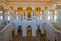 Hall, Kongressbibliothek, Washington DC Lizenzfreie Stockfotos