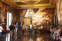 Hall kroniki w wnętrzu urząd miasta zdjęcie royalty free
