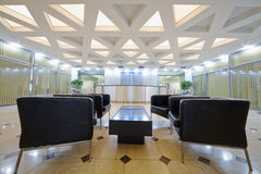 Hall with armchairs at business center Royalty Free Stock Photos