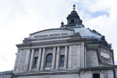 Hall London central metodista Imágenes de archivo libres de regalías