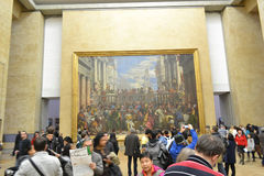 The hall in the Louvre. Royalty Free Stock Photo