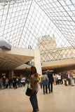 The Hall in Louvre - Paris Royalty Free Stock Photography