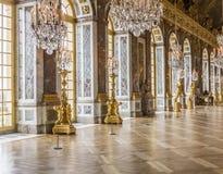 Hall lustra przy pałac Versailles Fotografia Royalty Free