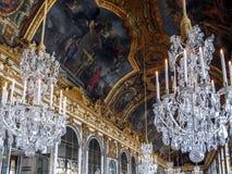 Hall lustra, Versailles, Francja Obraz Royalty Free