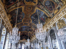 Hall lustra, Versailles, Francja Zdjęcia Stock