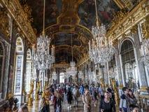 Hall lustra, Versailles, Francja Zdjęcie Stock
