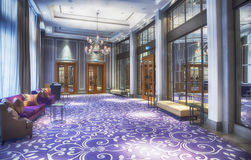 Hall in luxury restaurant Royalty Free Stock Images