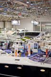 The Hall Of Luxury Yachts-Big Blue Sea Expo,Rome Royalty Free Stock Photography