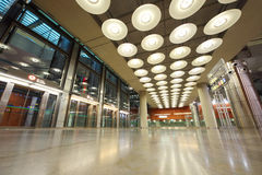 Hall in Madrid Barajas Airport Stock Images