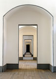 Hall of many doors Royalty Free Stock Photography