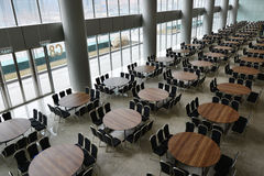 Hall with many table Royalty Free Stock Images