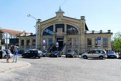 Hall market (Hales turgus) in the Vilnius city Royalty Free Stock Image