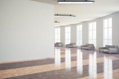 Hall med den tomma väggen Royaltyfria Foton