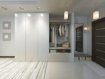 Hall med en korridor i modern stil med en garderob och ett a royaltyfri illustrationer