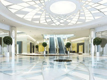 Hall in Megamall shopping center in a modern style. Stock Photography